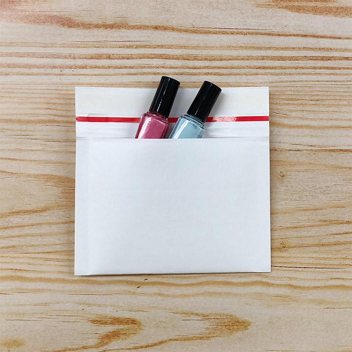 【2400枚】クッション封筒 スリム薄型 開封テープ付 ホワイト miniサイズ(外寸150×100+40mm)