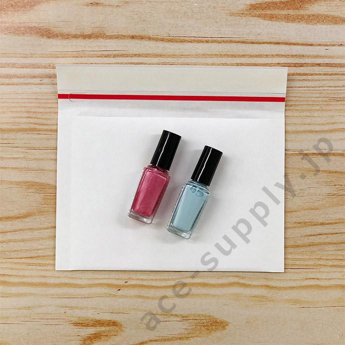 【3枚】クッション封筒 スリム薄型 開封テープ付 ホワイト SSサイズ(外寸180×120+40mm)