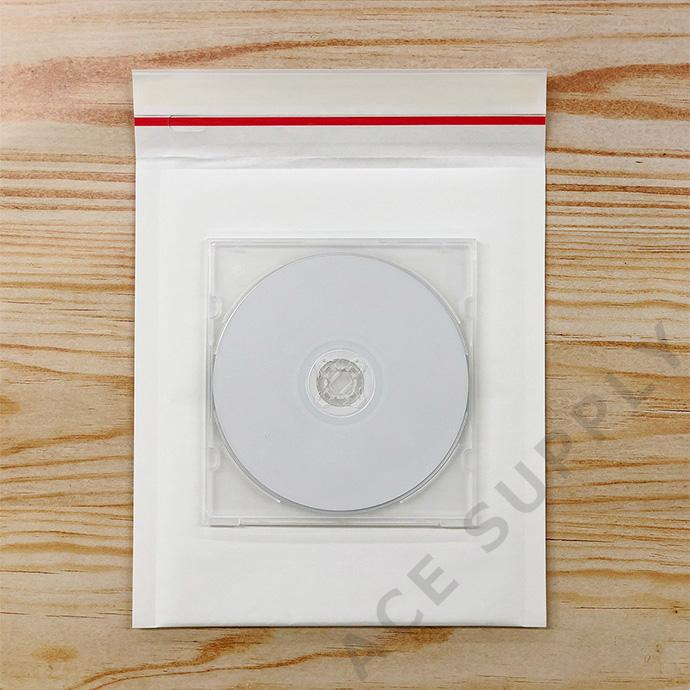 【100枚】クッション封筒 スリム薄型 開封テープ付 ホワイト Sサイズ(外寸190×210+40mm)