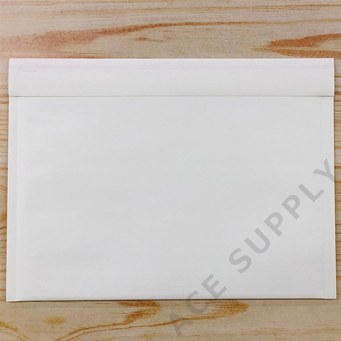 【100枚】クッション封筒 スリム薄型 開封テープ付 ホワイト Mサイズ(外寸280×205+40mm)