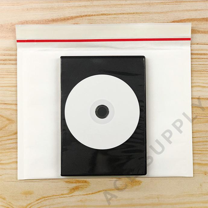 【10枚】クッション封筒 スリム薄型 開封テープ付 ホワイト Mサイズ(外寸280×205+40mm)