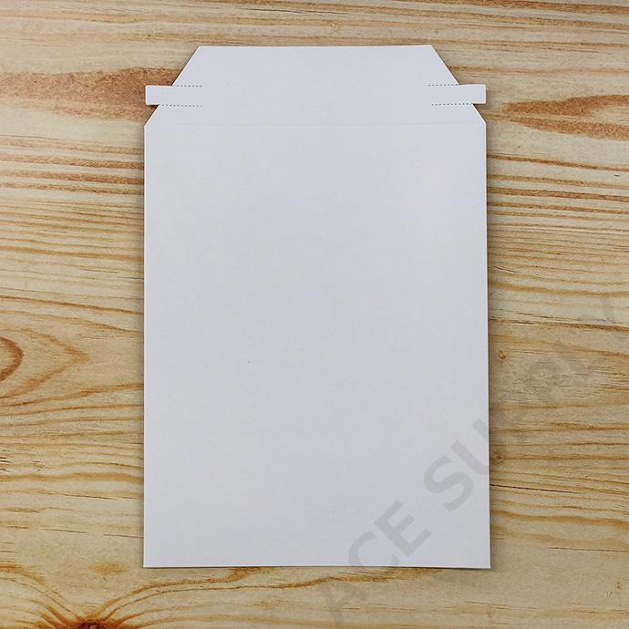 【5枚】厚紙封筒 ビジネスレターケース 白 開封テープ付 A5サイズ(外寸190×245+40mm)