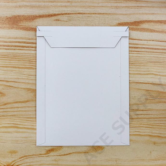 【20枚】厚紙封筒 ビジネスレターケース A5サイズ(外寸190×245+40mm) 開封テープ付 白