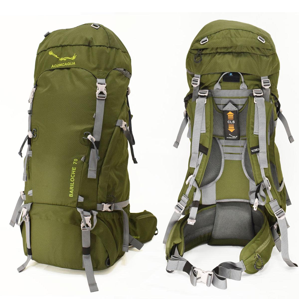 70L 大型 大容量 リュックサック バックパック 登山用ザック 旅行 キャンプ 山小屋泊 アウトドアギア トレッキングパック Bariloche バリローチェ70 Aconcagua アコンカグア 送料無料