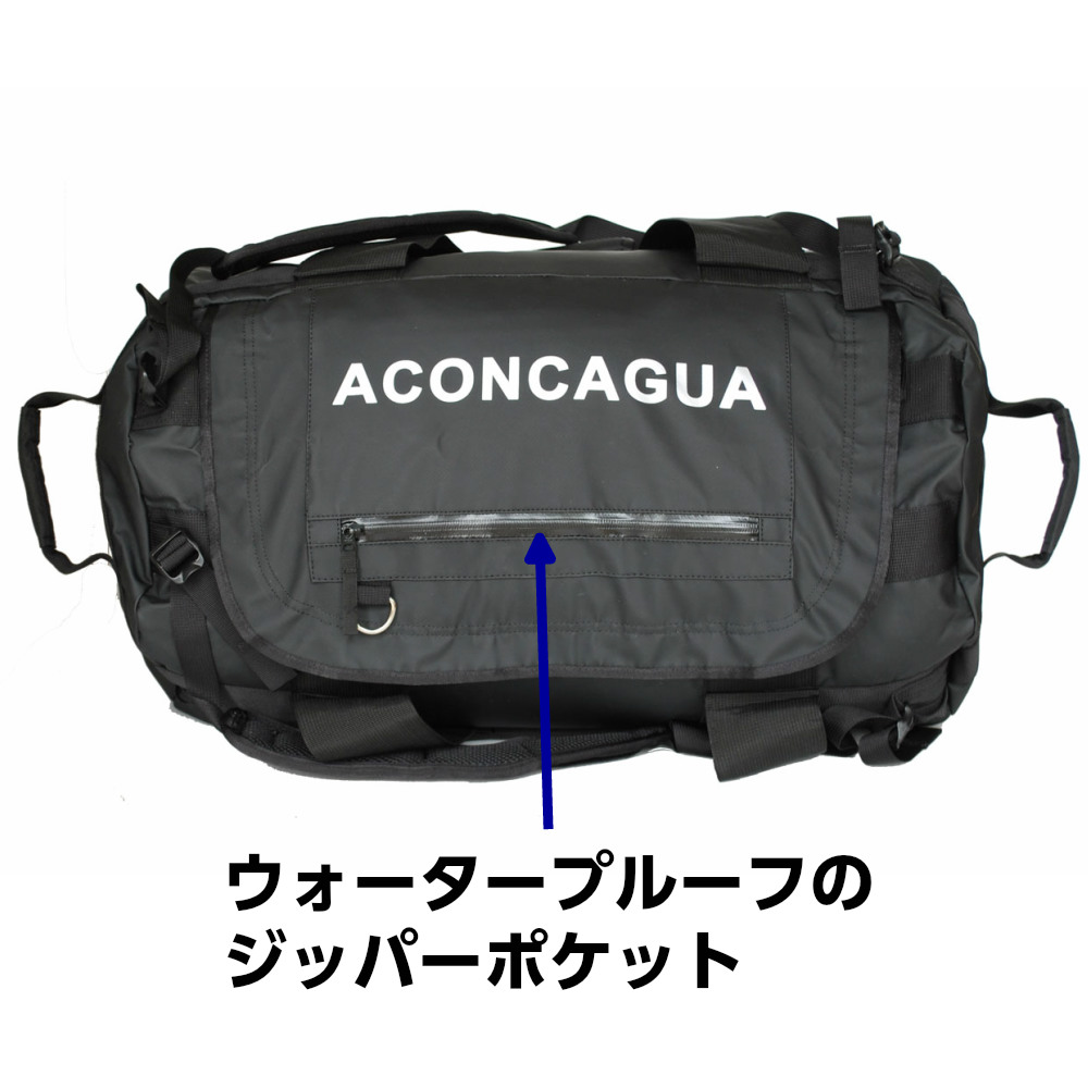 60L ダッフルバッグ リュックサック 2ways 南京錠 ロープバッグ ロッククライミング Tigre ティグレ60 Aconcagua アコンカグア