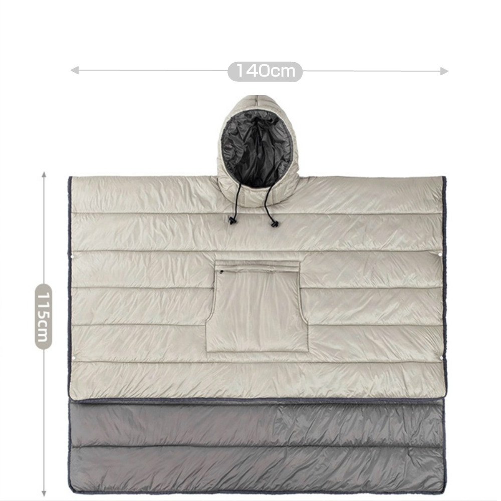 ポンチョ寝袋 防寒 アウトドア用マント マット シート スリーピングバッグ 防災 避難