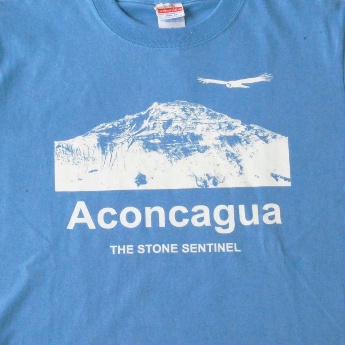 半袖Tシャツ コットン100% 山のプリント 5.6oz アコンカグア