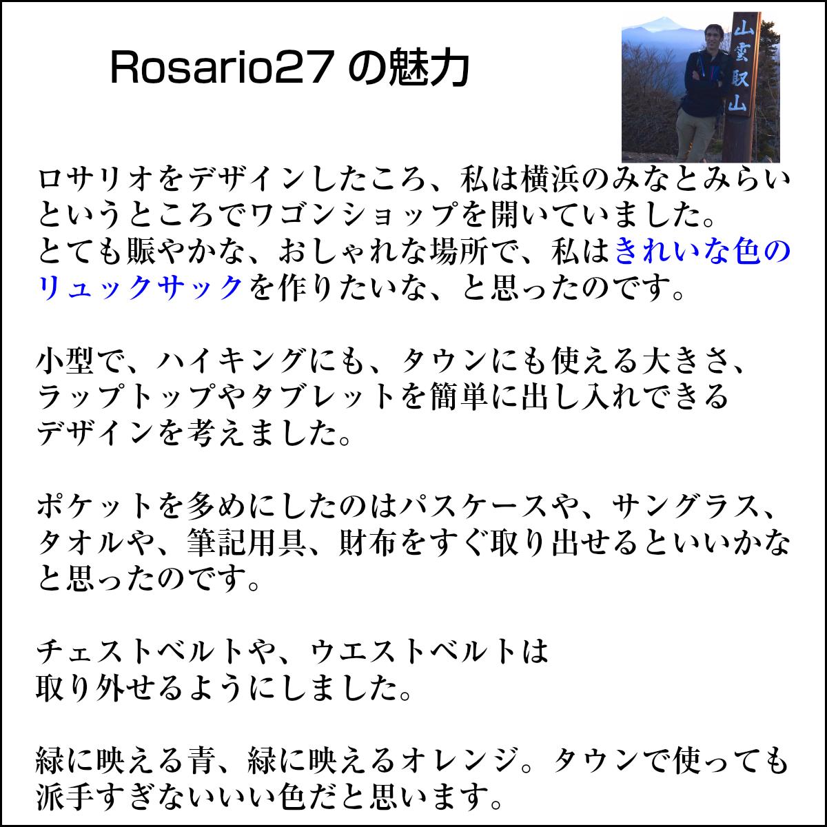 【セット】【色を選べる2個セット】小型リュック デイバッグ リュックサック ショッピングバッグ 機内持ち込み Rosario ロサリオ 27L Aconcagua アコンカグア