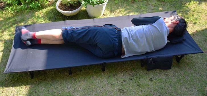 アウトドアコット キャンプコット キャンピングベッド 折り畳みベッド 軽量アルミローコット