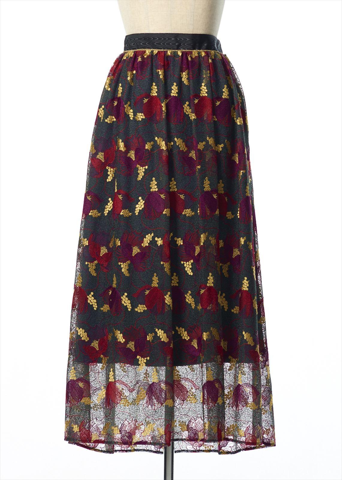 パイピングギャザースカート