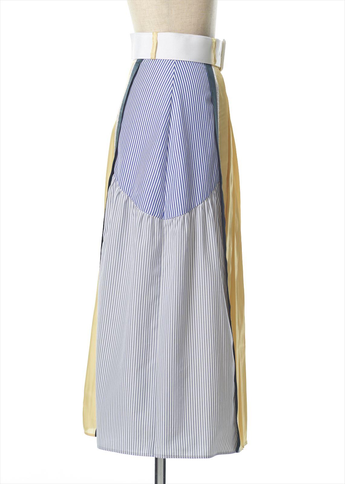 プリーツ切替えスカート
