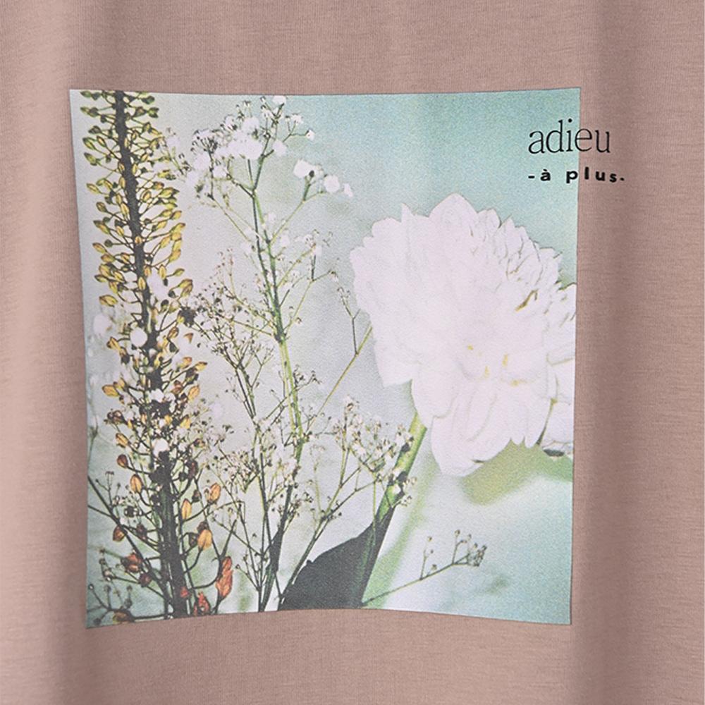 【adieu】愛の花ダリアTee (モカ) 【EC販売開始】