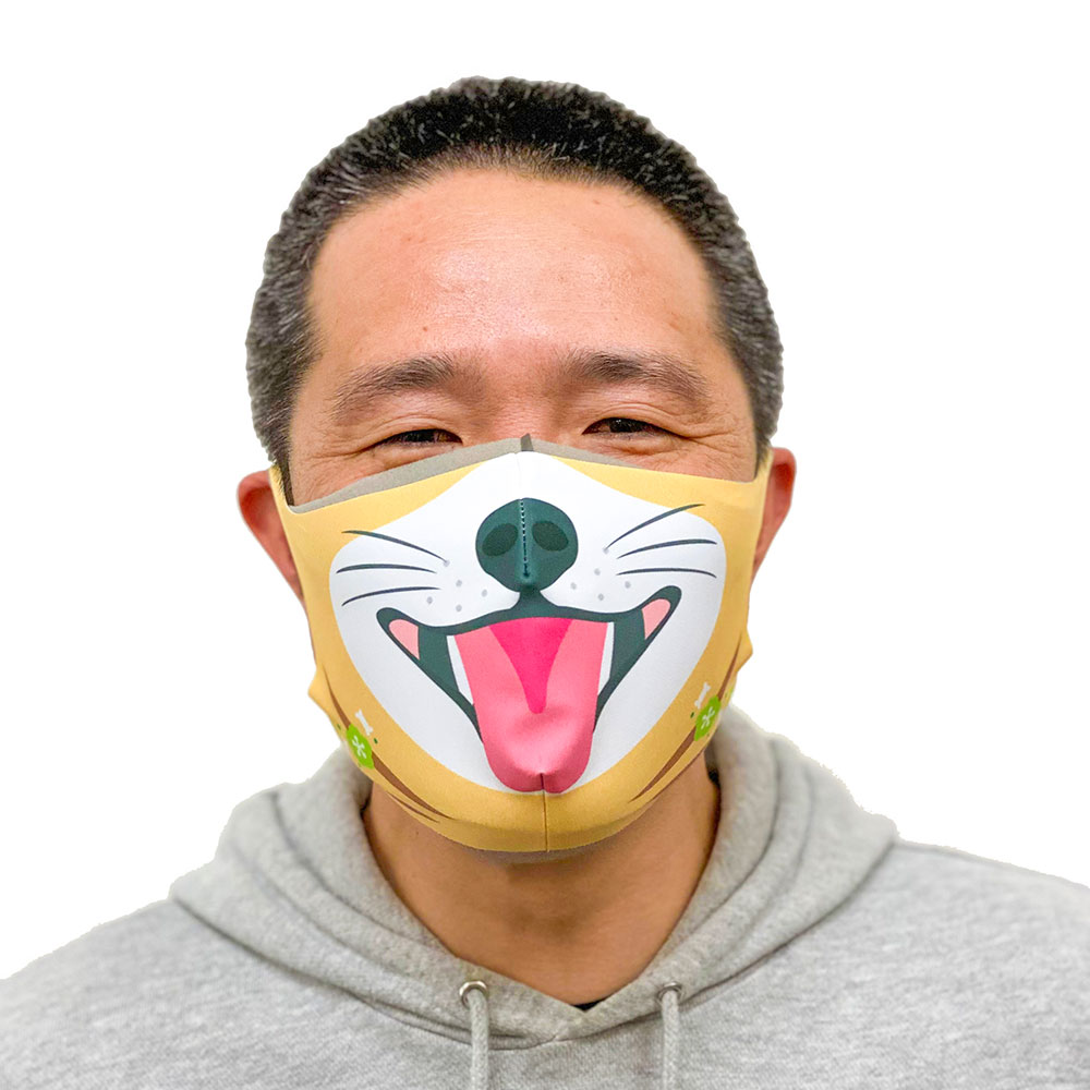 マスクカバー【開運!!!干支(えと)マスク】 戌(いぬ) 同窓会、リモート会議の新定番(ニューノーマル)! みんなで楽しめる!