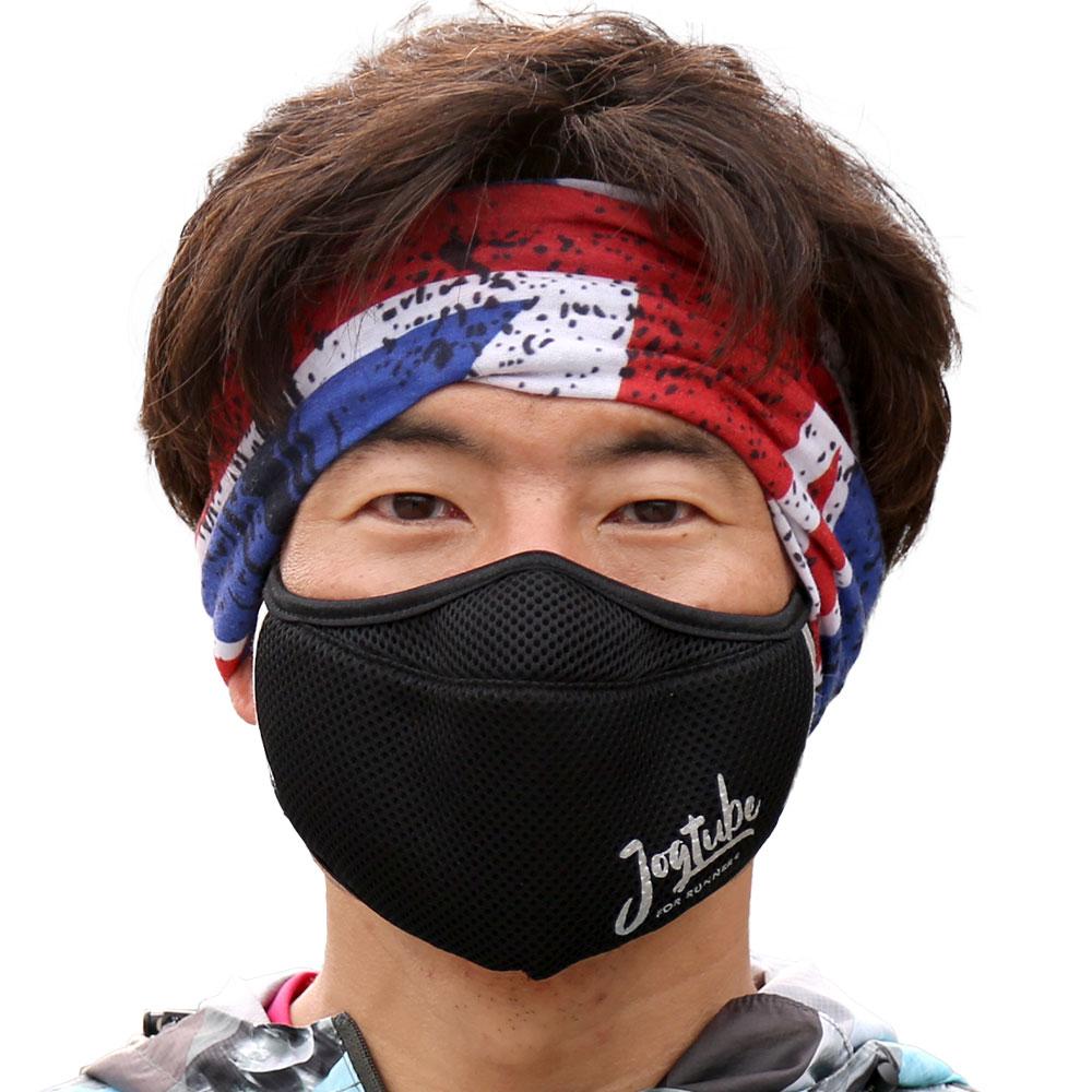 【数量限定】【予約販売(5月下旬より順次発送予定)】通気性とデザイン性に優れた抗菌防臭加工生地使用のランナー用スポーツマスク「Jogtube(R)マスク」