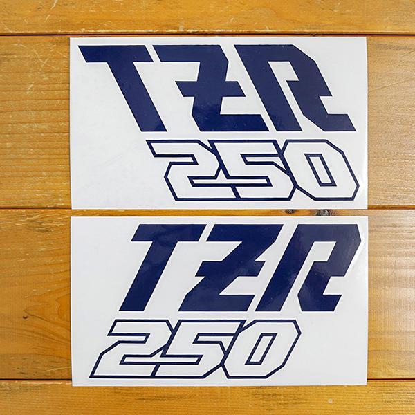 ヤマハ TZR250(1KT)ロゴカッティングステッカー(インクブルー)