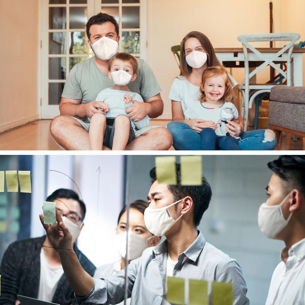送料無料!布マスク ノーズワイヤー入り 日本製生地抗菌クレンゼ Ag+ 制菌 コロナ ウィルス 対策  オーガニックコットン 50回洗える  Ver.2