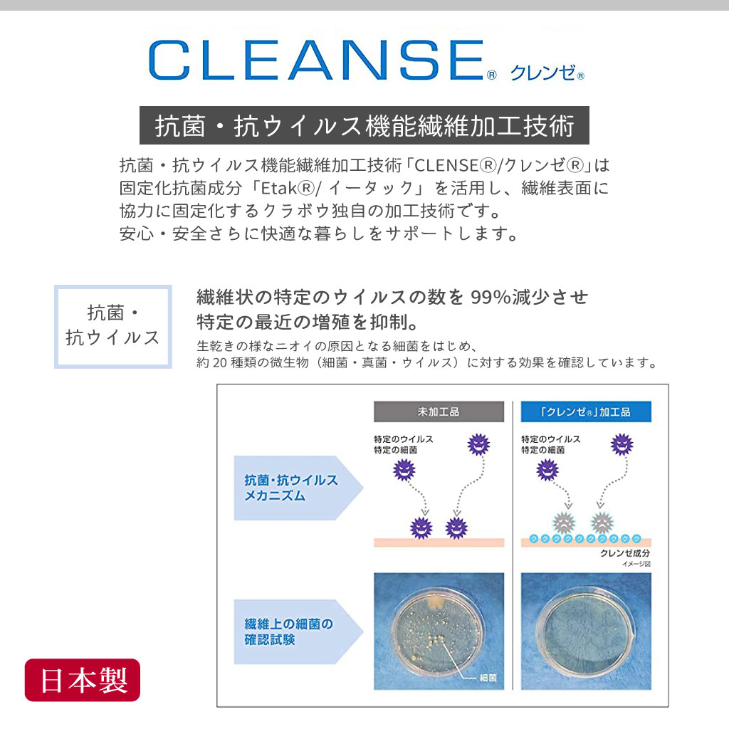 レースマスク プリーツタイプ 布マスク 大きめ 日本製生地抗菌クレンゼ Ag+ 制菌 品番: AEMA-LA 07シリーズ
