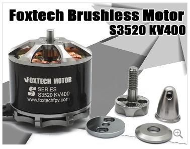 【Foxtech】S3520 KV300/400 ブラシレスモーター
