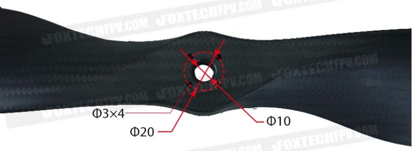 【Foxtech】Carbon Propeller 2985 29インチ カーボンプロペラ
