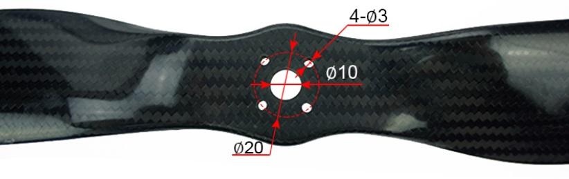 【Foxtech】Carbon Propeller 22インチ カーボンプロペラ