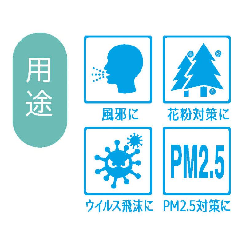 アズフィット日本製 不織布プリーツマスク 小さめサイズ(30枚入)