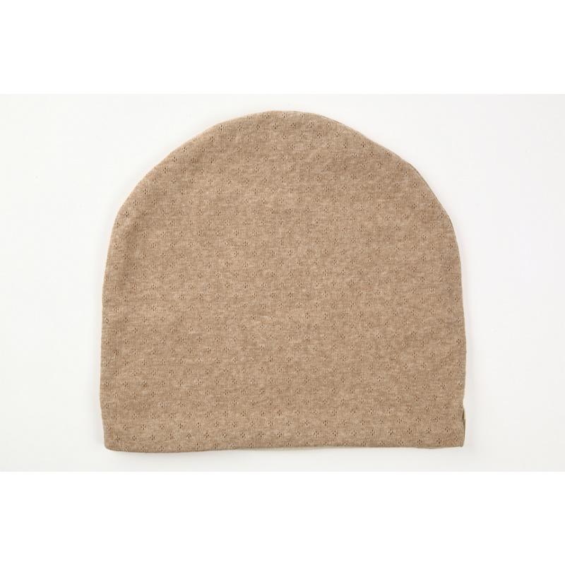タンドレ 抗がん剤医療用帽子 オーガニックコットン 茶綿エリゼ帽子