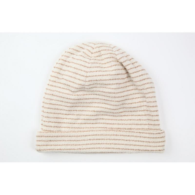 タンドレ 抗がん剤医療用帽子 オーガニックコットン パイルボーダー帽子