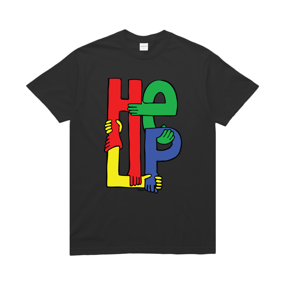 【BROTHER HOOD/ブラザーフッド】HELPING HANDS T-SHIRT Tシャツ / BLACK