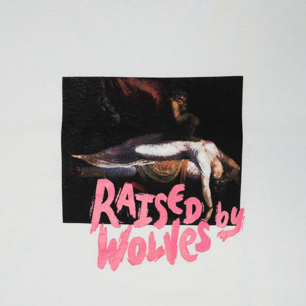 【RAISED BY WOLVES/レイズドバイウルブス】SLEEP PARALYSIS T-SHIRT Tシャツ / WHITE