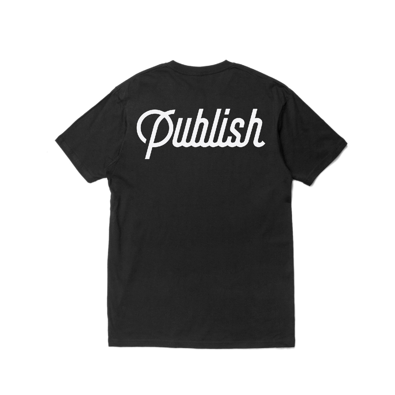 【PUBLISH BRAND/パブリッシュブランド】SCRIPT Tシャツ / BLACK