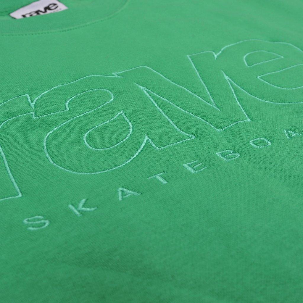 【RAVE SKATEBOARDS/レイブスケートボード】CORE LOGO CREWNECK クルーネックスウェット / APPLE
