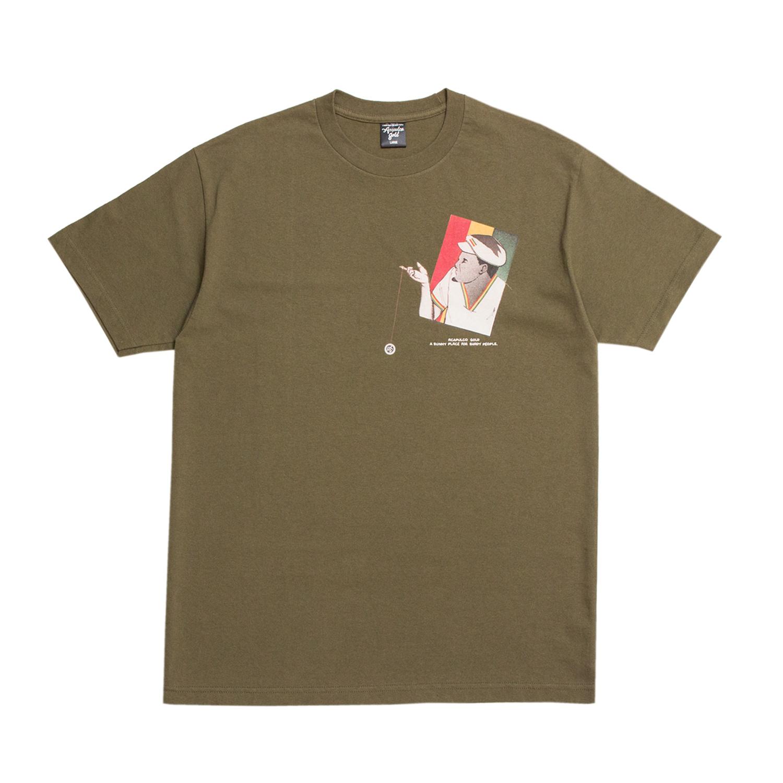 【ACAPULCO GOLD/アカプルコ ゴールド】YO-YO TEE Tシャツ / ARMY GREEN