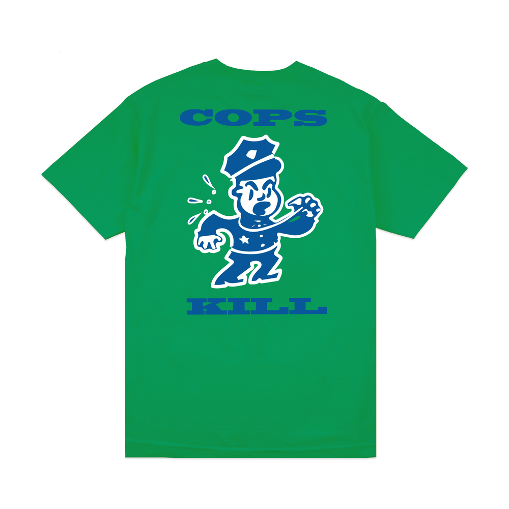 【BROTHER HOOD/ブラザーフッド】COPS KILL T-SHIRT Tシャツ / KELLY GREEN
