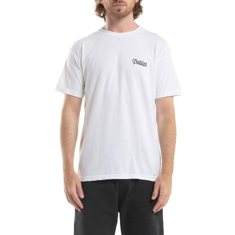 【PUBLISH BRAND/パブリッシュブランド】SCRIPT Tシャツ / WHITE