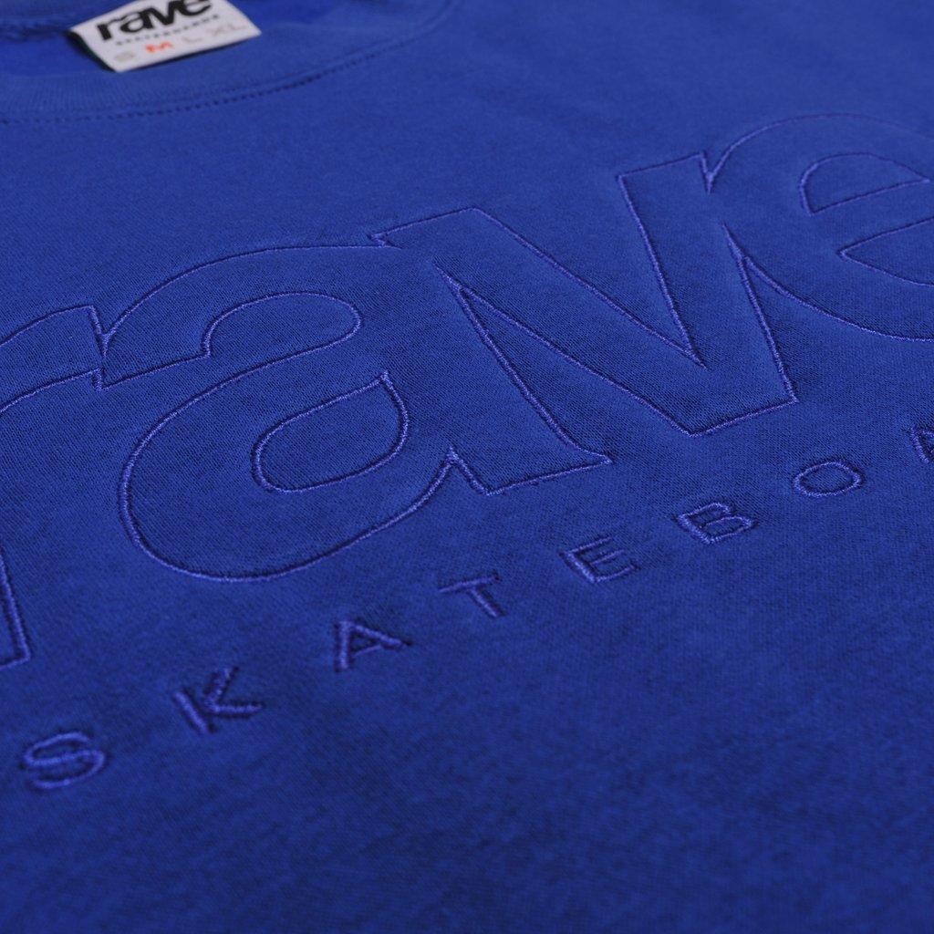 【RAVE SKATEBOARDS/レイブスケートボード】CORE LOGO CREWNECK クルーネックスウェット / ROYAL BLUE