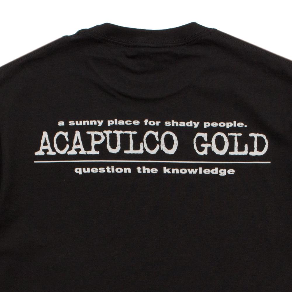 【ACAPULCO GOLD/アカプルコ ゴールド】LEARNING TEE Tシャツ / BLACK