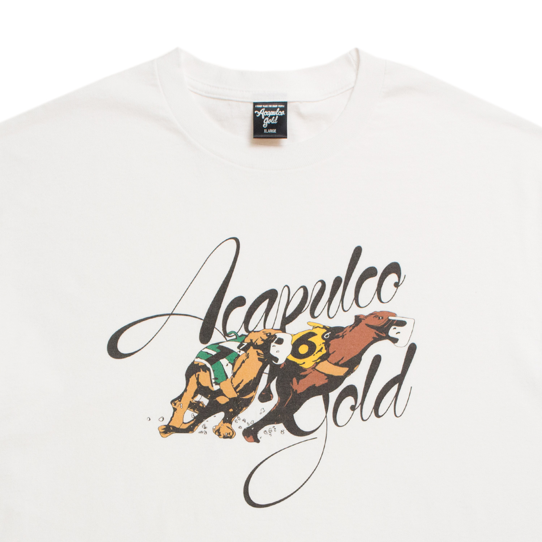 【ACAPULCO GOLD/アカプルコ ゴールド】GREYHOUND RACING TEE Tシャツ / WHITE