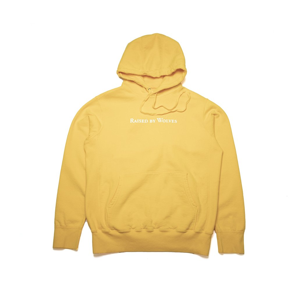【RAISED BY WOLVES/レイズドバイウルブス】LOGOTYPE HOODIE パーカー / GOLD
