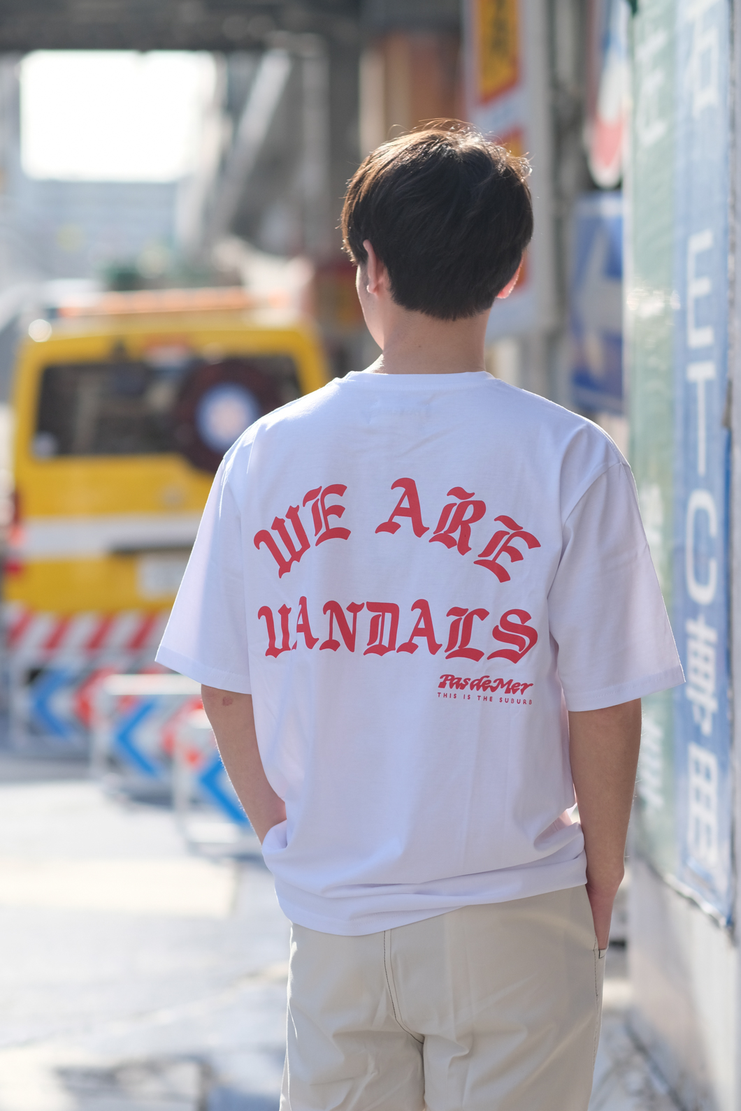 【PAS DE MER/パドゥメ】WAV T-SHIRT Tシャツ / WHITE