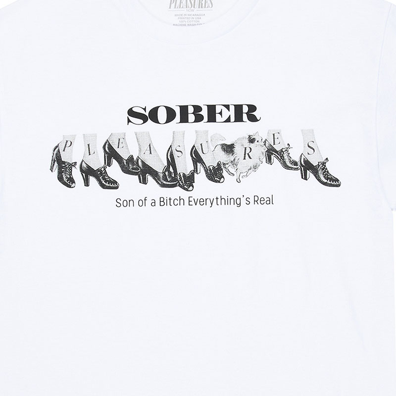【PLEASURES/プレジャーズ】SOBER T-SHIRT Tシャツ / WHITE