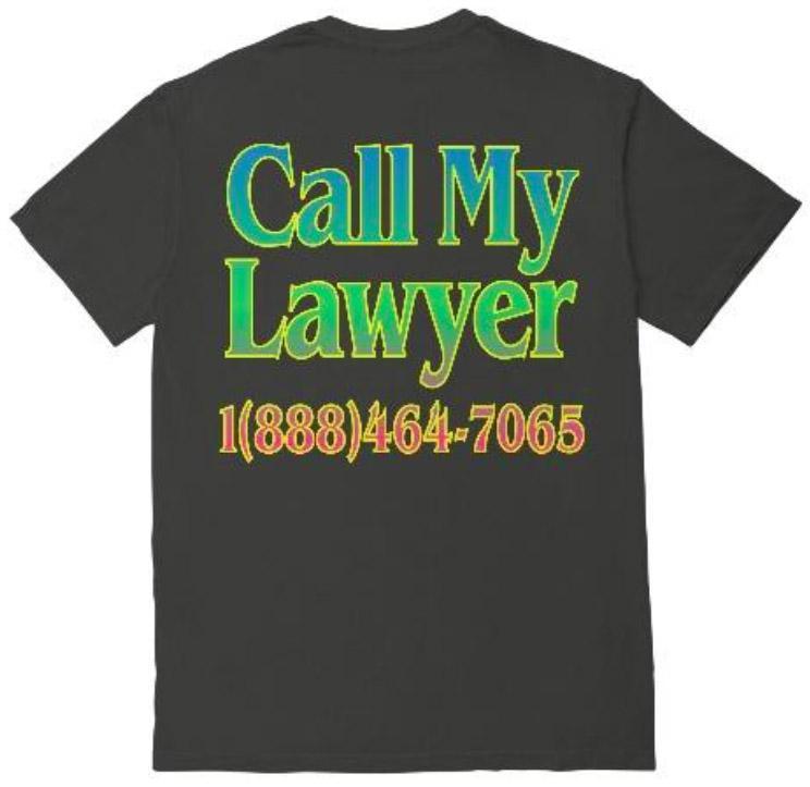 【CHINATOWN MARKET/チャイナタウンマーケット】CALL MY LAWYER RAINBOW Tシャツ / BLACK