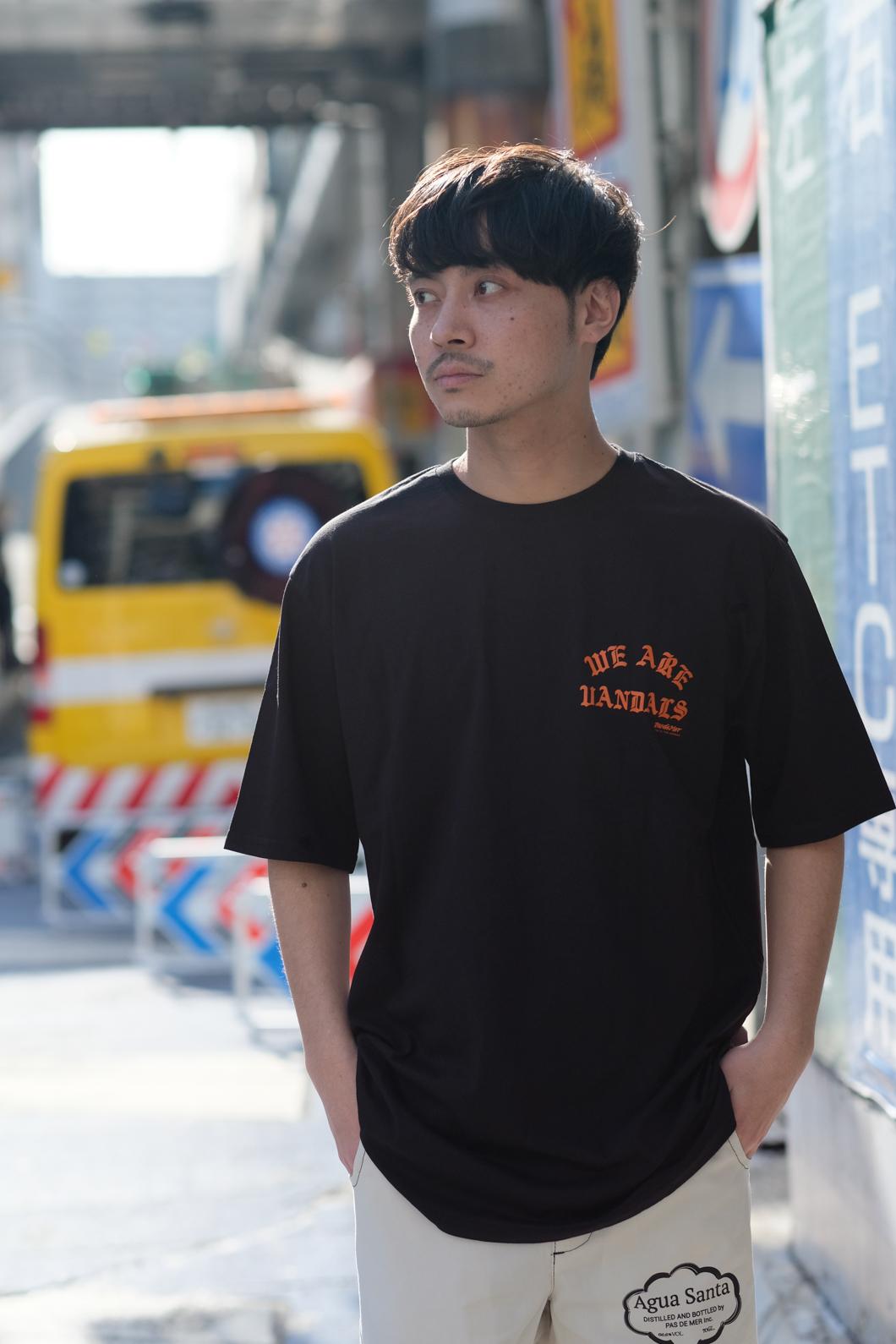 【PAS DE MER/パドゥメ】WAV T-SHIRT Tシャツ / BLACK