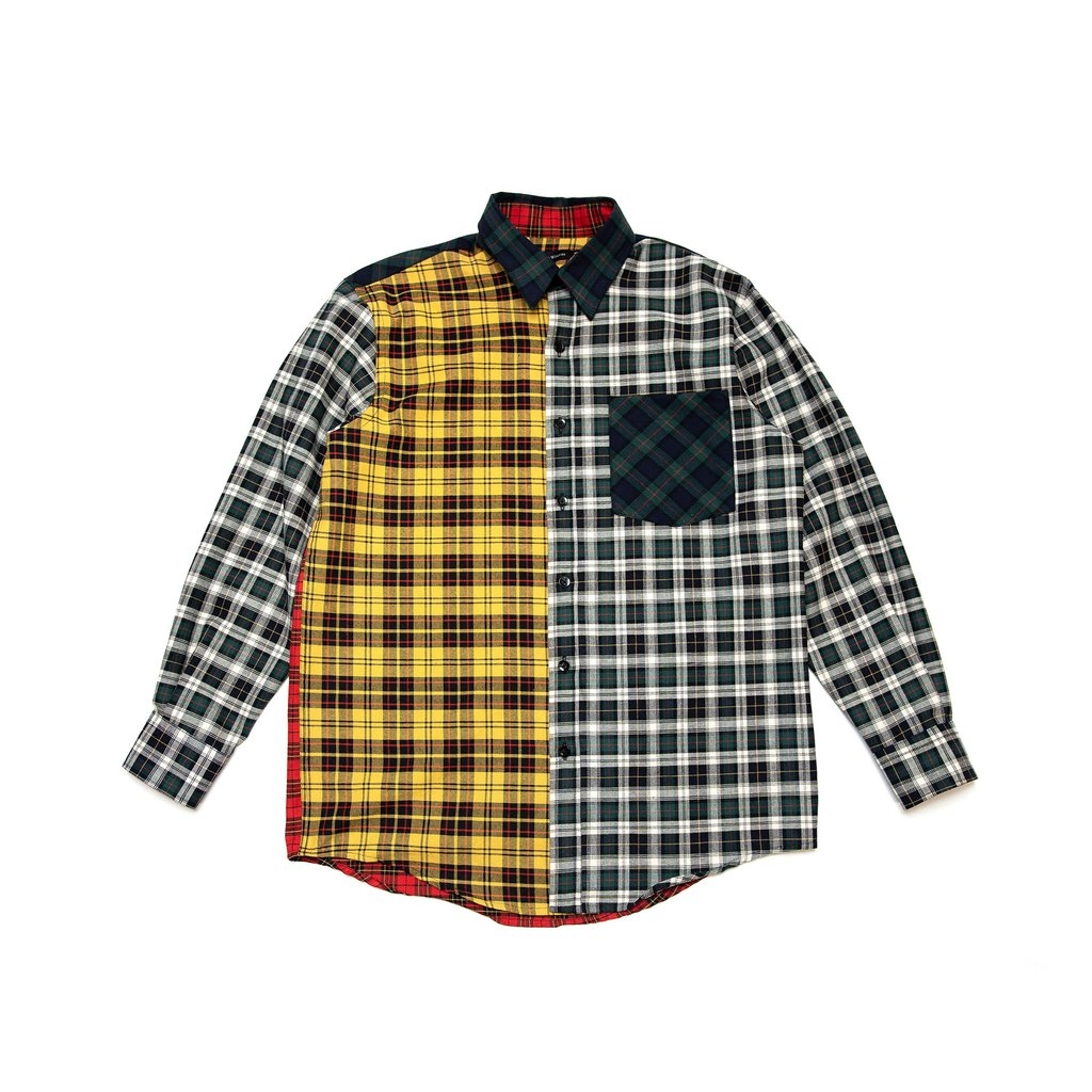 【RAISED BY WOLVES/レイズドバイウルブス】MIXED PLAID L/S SHIRT 長袖シャツ / MIXED PLAID