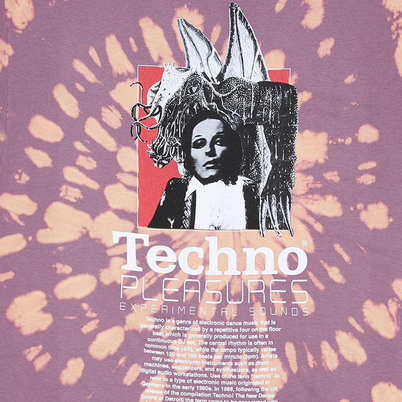 【PLEASURES/プレジャーズ】TECHNO T-SHIRT Tシャツ / ORANGE DYE