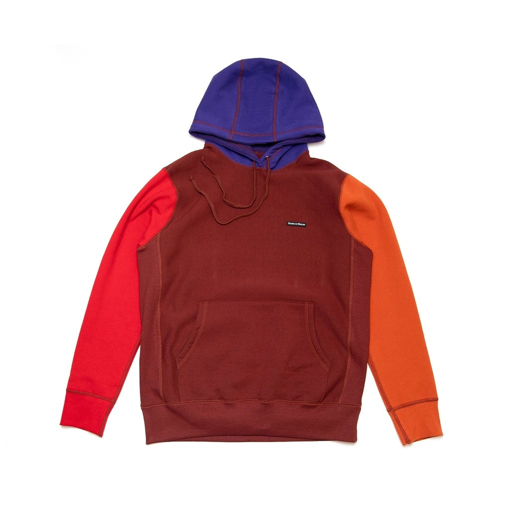 【RAISED BY WOLVES/レイズドバイウルブス】MIXED HOODIE パーカー / RED