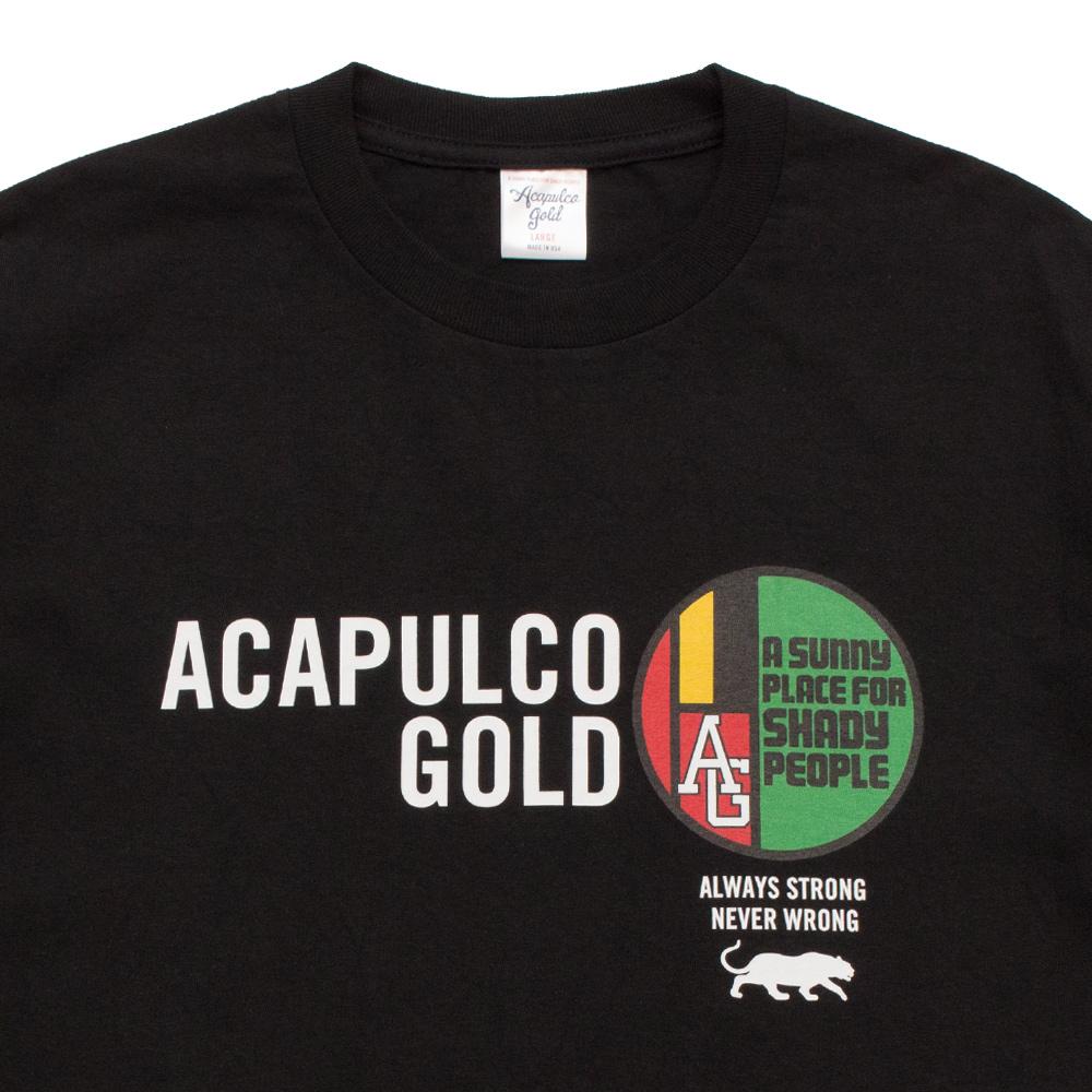 【ACAPULCO GOLD/アカプルコ ゴールド】MEDALLION TEE Tシャツ / BLACK