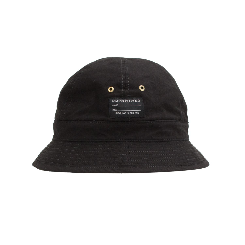 【ACAPULCO GOLD/アカプルコ ゴールド】AG RIP-STOP BUCKET HAT バケットハット / BLACK