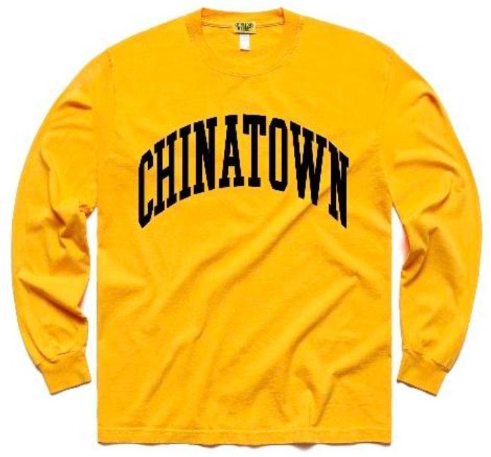 【CHINATOWN MARKET/チャイナタウンマーケット】ARC LONG SLEEVE ロングTシャツ / YELLOW