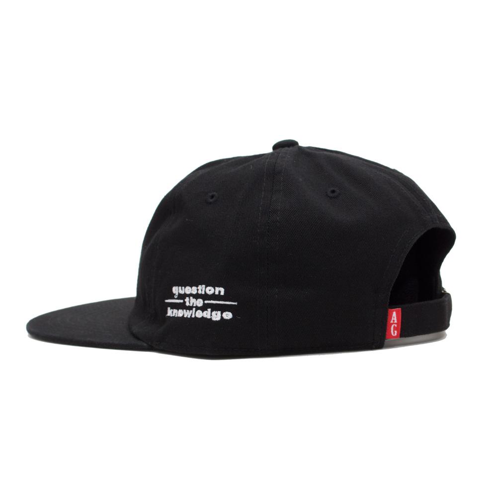 【ACAPULCO GOLD/アカプルコ ゴールド】LEARNING 6 PANEL CAP スナップバックキャップ / BLACK