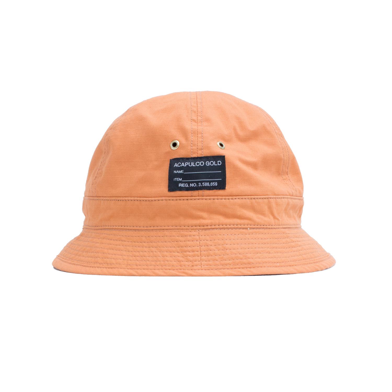 【ACAPULCO GOLD/アカプルコ ゴールド】AG RIP-STOP BUCKET HAT バケットハット / PAPAYA ORANGE